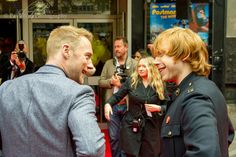 Postman Pat The Movie Leicester Square, London UK © Copyright 2014 Paul Bird All rights reserved Postman Pat, Ronan Keating, Rupert Grint, Leicester Square, Winter Jackets, King, Couple Photos, Movies, Winter Coats
