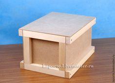 Купить Реечный ящик средний с ручкой (деревянная заготовка) - реечный ящик, ящик для вина