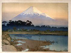 Hiroshi Yoshida (1876 - 1950) - Fujiyama: first light of the sun, 1926.