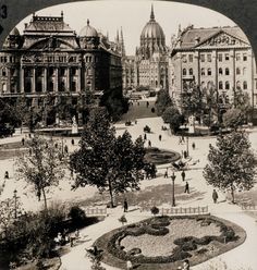 Szabadság Tér, (Freedom scuere) Budapest, Hungary c. Old Pictures, Old Photos, Capital Of Hungary, Vintage Architecture, Neoclassical Architecture, Historical Architecture, Austro Hungarian, Houses Of Parliament, Budapest Hungary