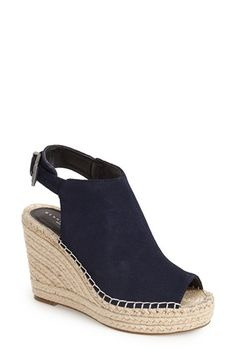 Kenneth Cole New York 'Olivia' Navy Espadrille Wedge Sandal (Women) | Nordstrom