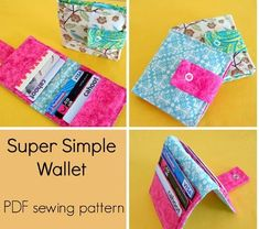 A Simple Wallet - PDF Sewing Pattern + Preventing Thread Breakage