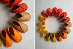 Felt Baby Shoes http://www.handimania.com/sew/felt-baby-shoes.html