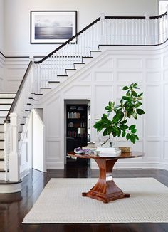 My Foyer Staircase Makeover Reveal Foyer Staircase, Staircase Makeover, Entrance Foyer, Entry Hallway, Grand Entrance, Open Entryway, Entryway Ideas, Staircase Design, Entryway Stairs