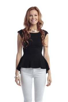 Textured Peplum