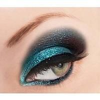 Glitter Bridal Makeup in blue and black