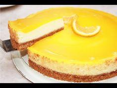 تشيزكيك رائع بالبرتقال بدون كريمة و بدون جيلاتين سهل و لذيذ Cheese Cake/halawiyat 5adija - YouTube