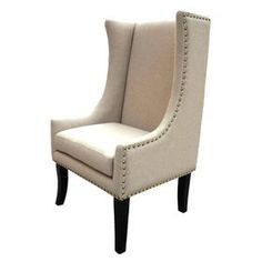 Natural Linen Palermo Wingback Chair