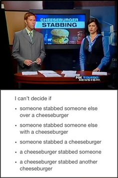 Hmmmm... I think its the cheeseburger stabbing another cheeseburger.