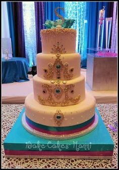 Indian Wedding Cake - some color without being too over the top?
