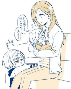 Girls Anime, Cute Anime Guys, Otaku Anime, Anime Art, Anime Couples, Slayer Anime, Couple With Baby, Maid Sama, Acting