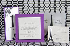 Paris Themed Wedding Invitation   www.papercreations.ca