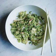 Brussels Sprout Salad with Toasted Sesame Vinaigrette | Food & Wine Recipe