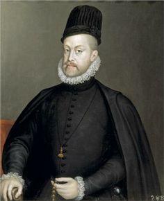 Portrait of Philipp II of Spain (1570) - Sofonisba Anguissola (Italian: 1532-1625) - Mannerism (Late Renaissance)