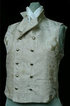 White and Black waistcoats in the 1820s were sometimes replaced by fancier colors and patterns favored by the dandies.  http://media-cache-ak0.pinimg.com/236x/d7/d4/1d/d7d41d90124aac71d785d0e85e8030b8.jpg