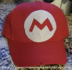 Easy Customized Baseball Hat Craft Hat Crafts, Crafts To Make, Mario Hat, Felt Glue, Red Hats, Print And Cut, Birthday Parties, Birthday Ideas, Party Favors