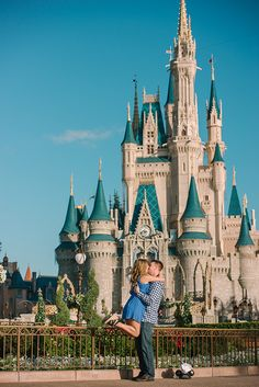 We are head over heels in love with this sweet Walt Disney World secret proposal photo shoot