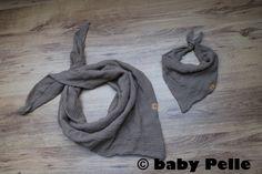 Halstücher - Mama Halstuch Musselin Baumwolle nougat braun - ein Designerstück von babyPelle bei DaWanda