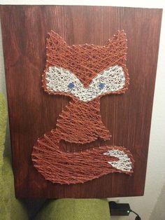 Fox string art