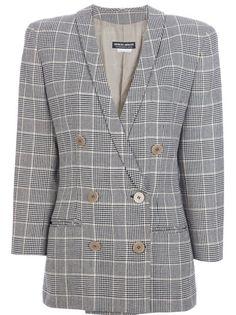 f702d7fa11fc Giorgio Armani Vintage Checked Jacket - Farfetch