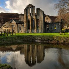 Valle Crucis Abbey and Fishpond - Square Format by Etrusia UK, via Flickr