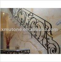 Elegant wrought iron staircase railings - www.irondoor.cn