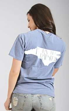 charlie southern: born & raised t shirt - North Carolina [blue]