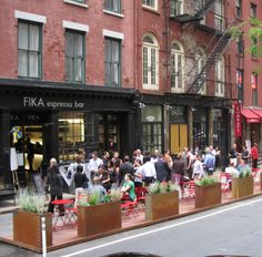 Two Awesome Ways Restaurants Can Participate in Atlanta Streets Alive  1. Extend your dining space to the street    Check out examples from San Francisco, New York and around the world on how to create temporary dining spaces outside. Those on the route would certainly take notice!