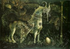 Leonora Carrington - Who art thou, White face? 1959