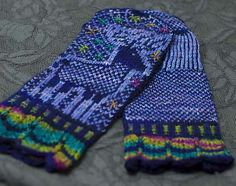 Embroidery on Knit Mittens - Juju Vail
