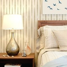 """Our+beautiful+geometric+stencil+""""Beads""""+will+make+a+stunning+accent+wall+in+any+contemporary+room!+Try+stenciling+this+wall+pattern+in+metallic+paints+to+see+the+beads+shimmer!+This+stencil+design+is+also+perfect+for+curtains.+Geometric+wall+stencils+are+super+trendy+and+are+sure+to+spice+up+any+..."""