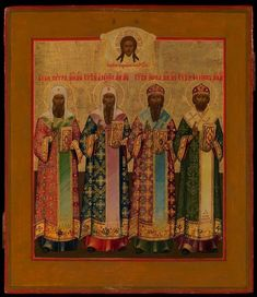 """Selected Saints """"Metropolitans of Moscow"""" Russian Orthodox icon"""