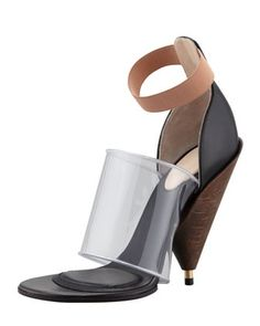 Givenchys PVC banded cone-heel boot. Its good. Design works No.239 |2013 Fashion High Heels|