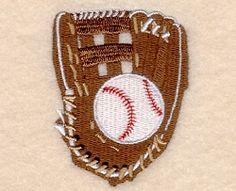 Softball and Glove - 4x4 | Baseball | Machine Embroidery Designs | SWAKembroidery.com Starbird Stock Designs