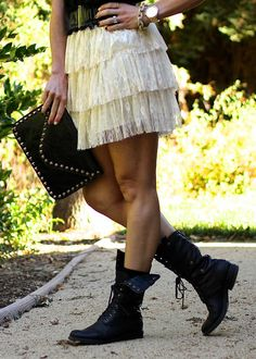 Combat Boots Girly