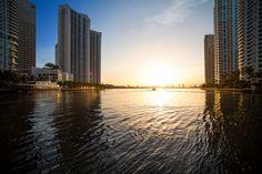 Miami, Florida, New York Skyline, Celestial, Sunset, Travel, Outdoor, Monday Morning, Places