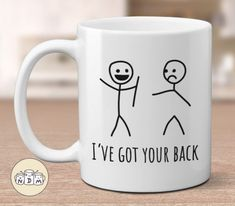 Show how much you support your best friend, family, or coworker with this funny mug featuring the pun I've Got Your Back! Show how much you support your best friend, family, or coworker with this funny mug featuring the pun Presents For Best Friends, Diy Gifts For Friends, Diy Gifts For Boyfriend, Bff Gifts, Girlfriend Gift, Marines Girlfriend, Funny Friend Gifts, Small Gifts For Coworkers, Funny Presents