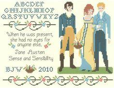 cross stitch jane austen