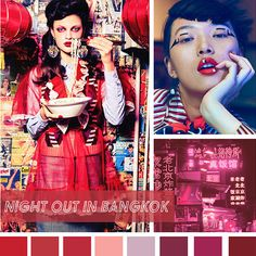 #DesignOptions SS18 color report on #WeConnectFashion, Women's market mood: Night Out in Bangkok.