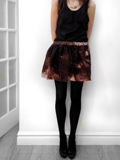 ShadowPlayNYC SALE Mars Hand Painted Cosmos Skirt on Etsy, $60.00
