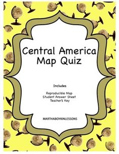 Geography world history world map quizzes quiz bundle central america easy to use pre made map quiz for middle school and gumiabroncs Choice Image
