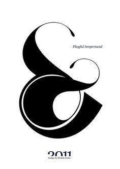 playful ampersand 1 poster by moshik nadav