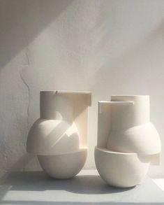 """take form on Instagram: """"@derekjwilson vessels . . . . . . . . #vases #ceramics #brutalism #modernceramics #minimal #take_form"""""""