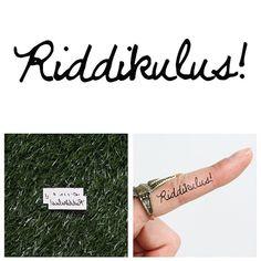 Riddikulus Temporary Tattoo Set of 2 by Tattify on Etsy, $5.00 @Caitlin Locke