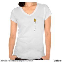 Autumn Yellow Leaf Tshirts