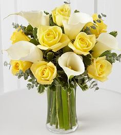yellow calla lily bouquet - Google Search