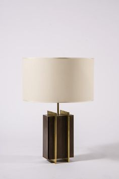 Pair of Brass Strapped Table Lamps image 2