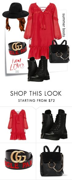 """Red hair dont care #summerboots"" by lingga-widastri ❤ liked on Polyvore featuring Post-It, 10 Crosby Derek Lam, Capezio, Gucci, Chloé, rag & bone, red and summerbooties"