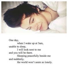 This made my night I smiled when I read this, just the thought of Harry being by your side forever :)))))
