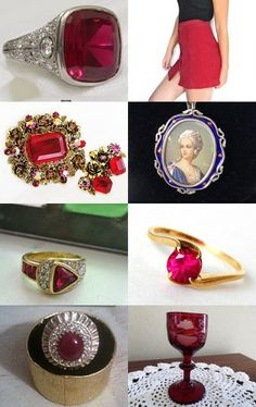 Ruby Will You Be Mine? #VogueTeam #vintage #rings #jewelry #glasses #clothing